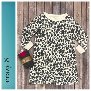 Leopard tunic dress and tights By Crazy 8
